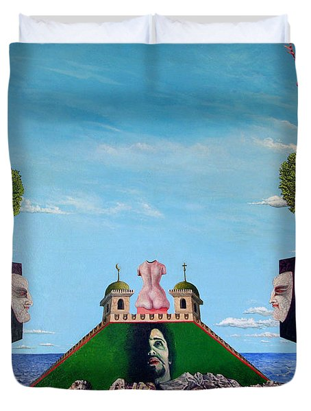 Bogomils Monastic Retreat Duvet Cover by Otto Rapp