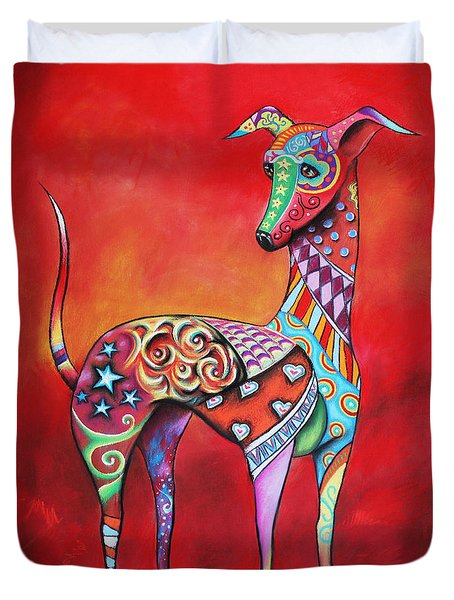 Italian Greyhound  Duvet Cover by Patricia Lintner