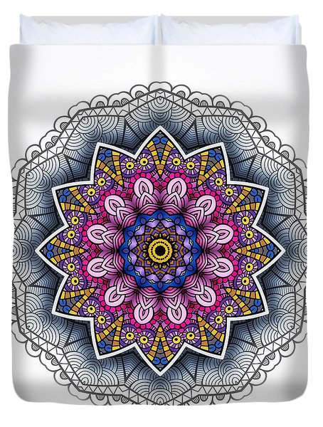 Duvet Cover featuring the digital art Boho Star by Mo T