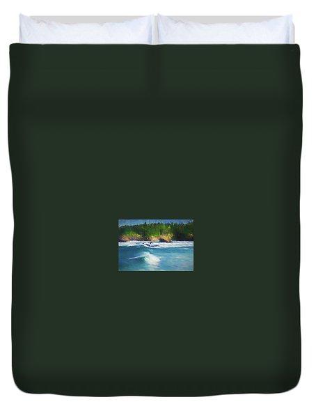 Boiler Bay Blues Duvet Cover