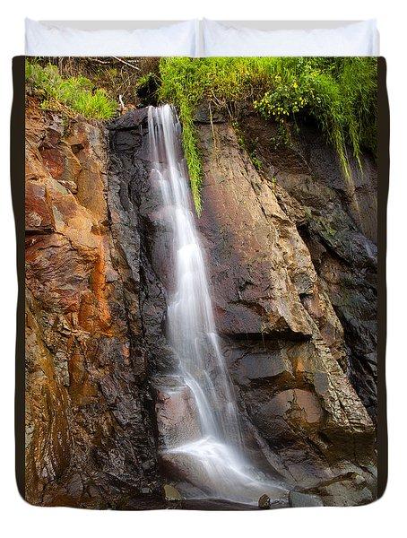 Boiler Bay Cascade Duvet Cover by Mike  Dawson