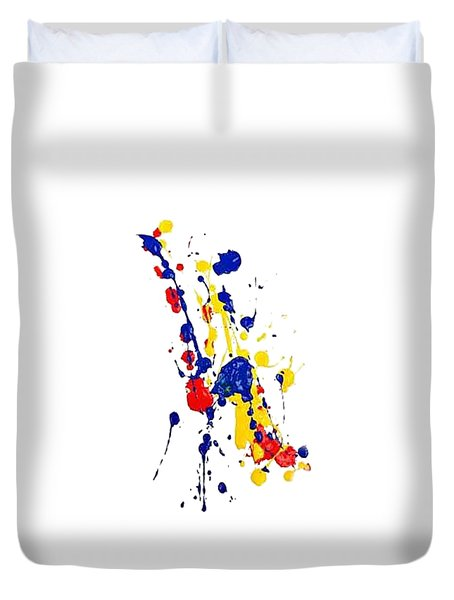 Boink T-shirt Duvet Cover by Herb Strobino