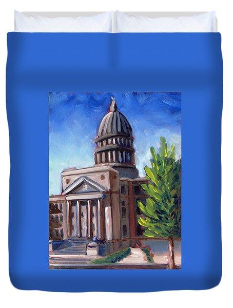 Boise Capitol Building 01 Duvet Cover