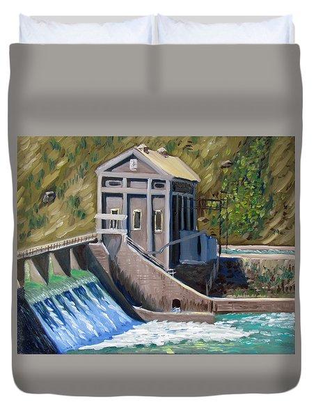 Boise Diversion Dam Duvet Cover