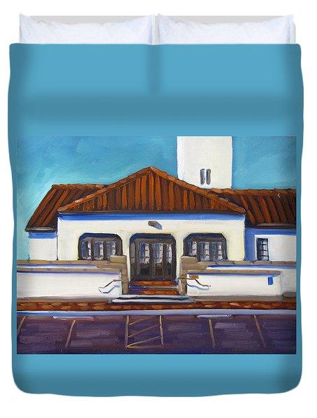 Boise Train Depot Duvet Cover