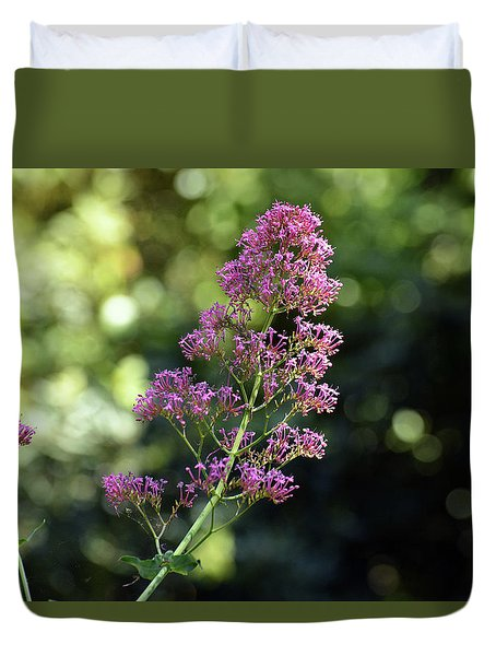Bokeh Of Anacapri Flower Duvet Cover