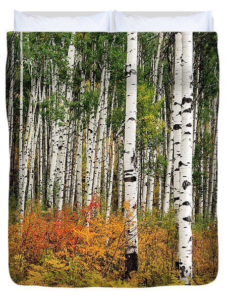 Duvet Cover featuring the photograph Bold And Magnificent Autumn by Tim Reaves