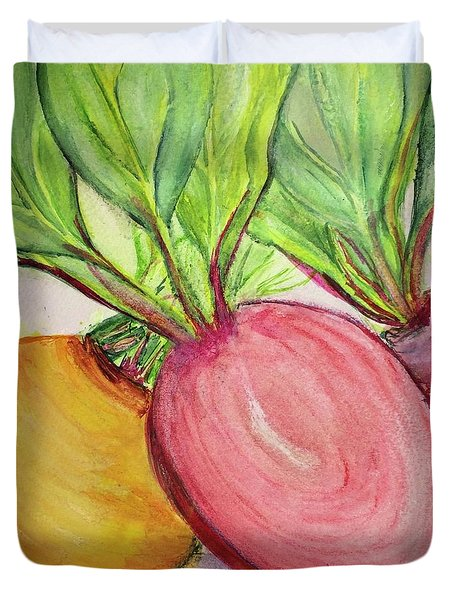 Bold Beets Duvet Cover
