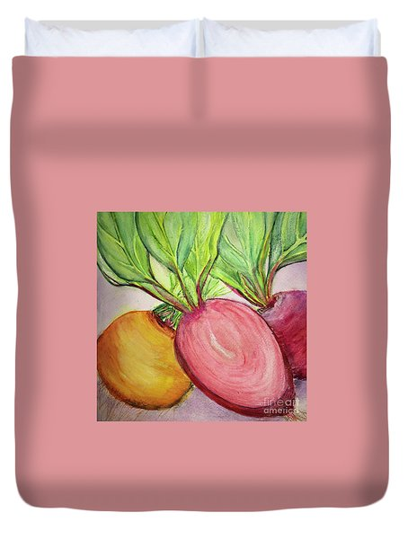 Bold Beets Duvet Cover by Kim Nelson