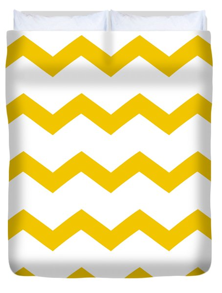 Bold Chevron - Pattern 1 In White W05-p0154 Duvet Cover by Custom Home Fashions