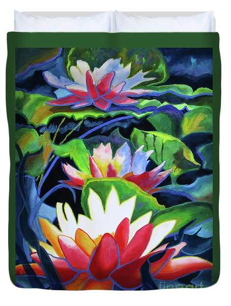 Bold Lilypads Duvet Cover