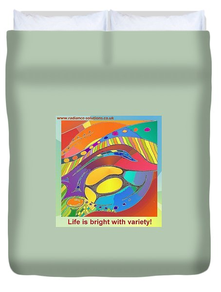 Bold Organic - Life Is Bright With Variety Duvet Cover