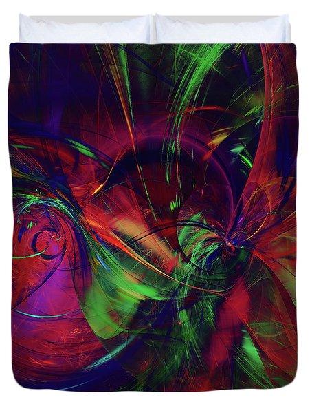 Duvet Cover featuring the digital art Bold Red by Deborah Benoit