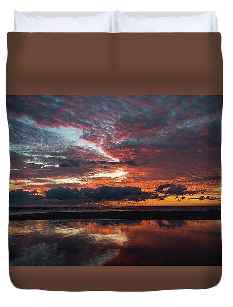 Bold Sunrise Delray Beach Florida Duvet Cover