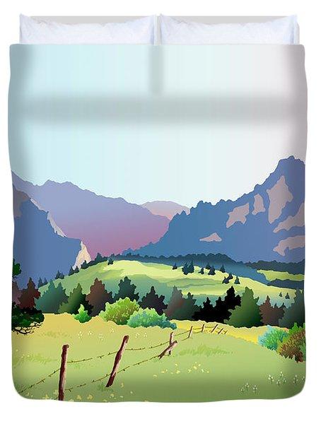 Bolder Boulder Poster 2009 Duvet Cover
