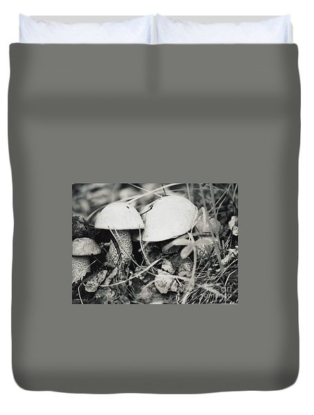 Boletus Mushrooms Duvet Cover