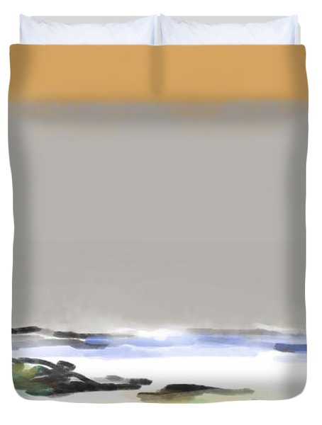 Bolinas Beach Walker Duvet Cover