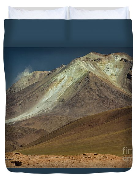 Duvet Cover featuring the photograph Bolivian Highland by Gabor Pozsgai