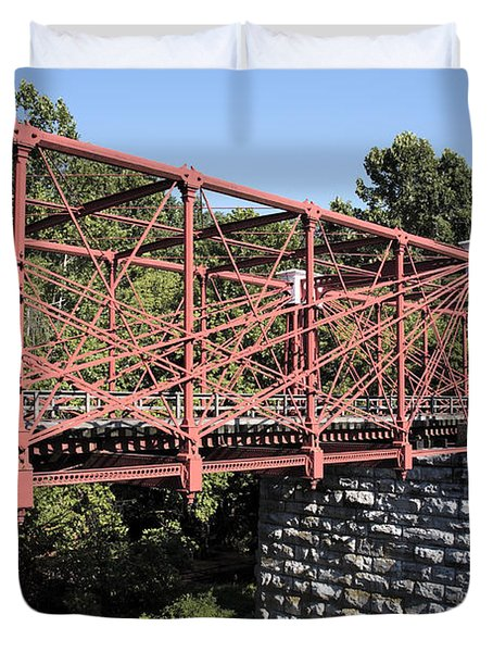 Bollman Truss Bridge At Savage In Maryland Duvet Cover