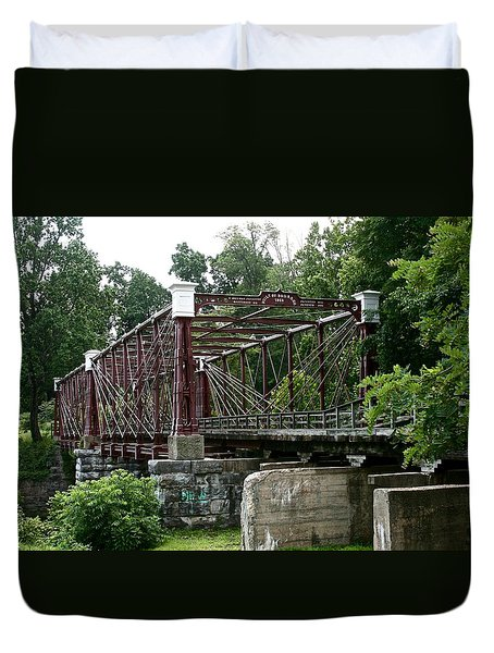 Bollman Truss Railroad Bridge Duvet Cover