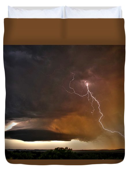 Duvet Cover featuring the photograph Bolt From The Heavens. by James Menzies