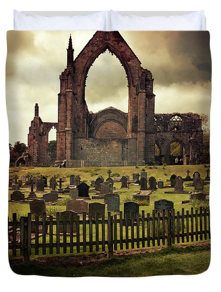 Bolton Abbey At Sunset Duvet Cover by Jaroslaw Blaminsky