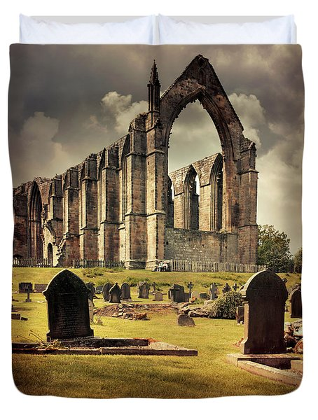 Bolton Abbey In The Uk Duvet Cover by Jaroslaw Blaminsky