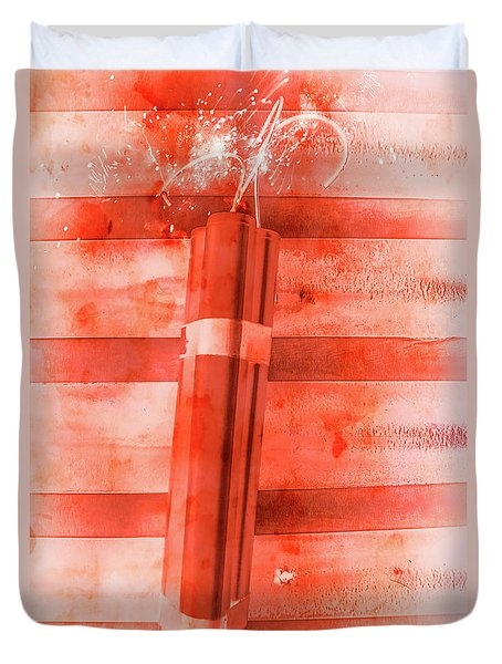 Bomb Of The Betrayal Duvet Cover