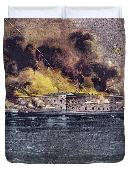 Bombardment Of Fort Sumter, Charleston Harbor, Signaled The Start Of The American Civil War Duvet Cover