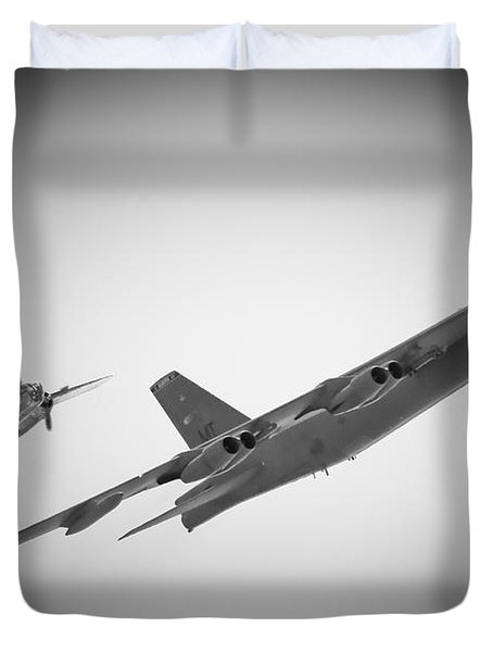 Bomber Pair Duvet Cover by Bob Mintie