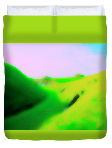 Bombproofs At Dover Duvet Cover by Jan W Faul