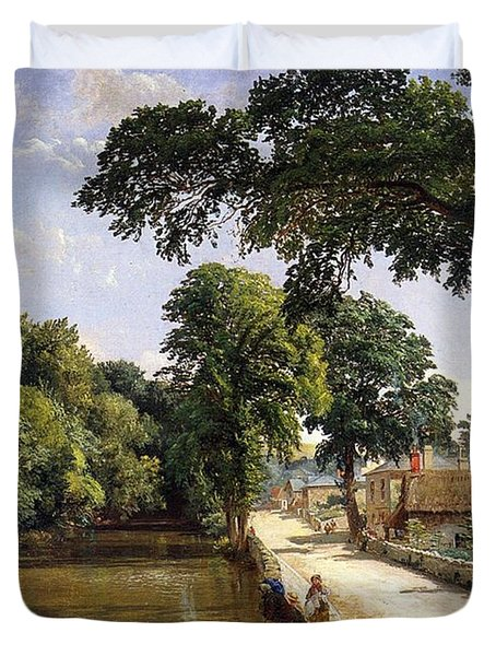 Bonchurch Isle Of Wight Duvet Cover by Jasper Francis Cropsey