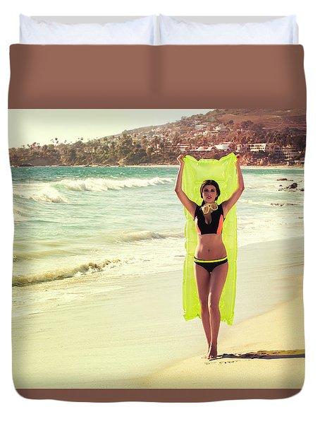 Bond Girl Laguna Beach Duvet Cover