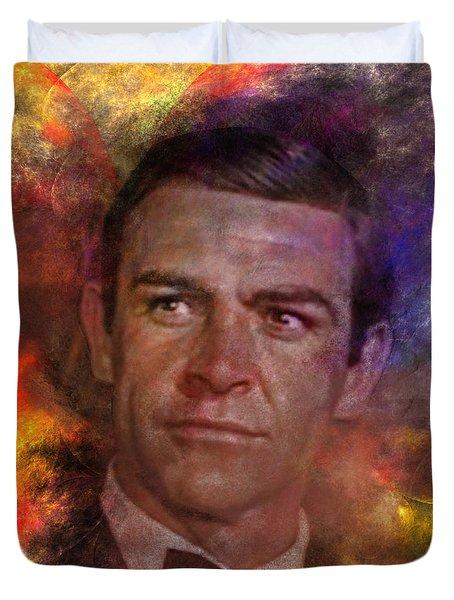 Bond - James Bond - Square Version Duvet Cover by John Robert Beck