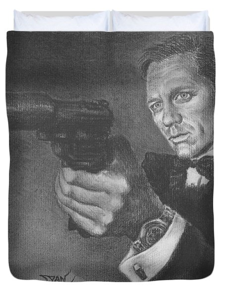 Bond Portrait Number 3 Duvet Cover
