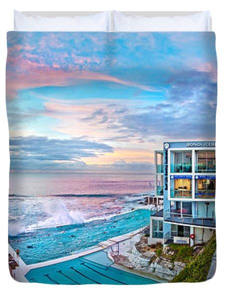 Bondi Beach Icebergs Duvet Cover