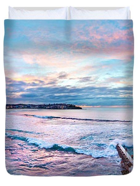 Bondi Beach Icebergs Duvet Cover by Az Jackson