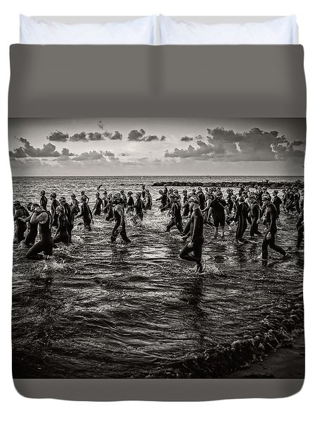 Bone Island Triathletes Duvet Cover
