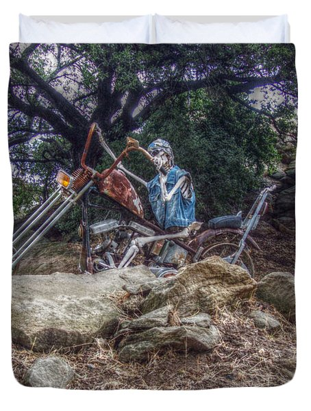 Bone Rattling Ride Duvet Cover by Cindy Nunn