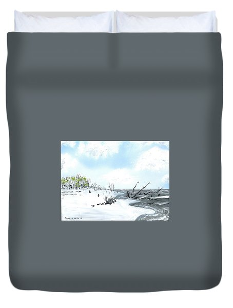 Bone Yard At Capers Island Duvet Cover