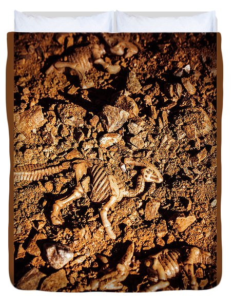 Bones From Ancient Times Duvet Cover