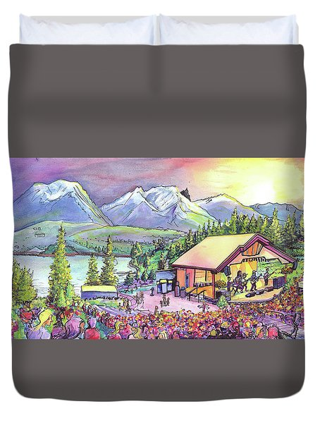 Bonfire Dub Duvet Cover by David Sockrider