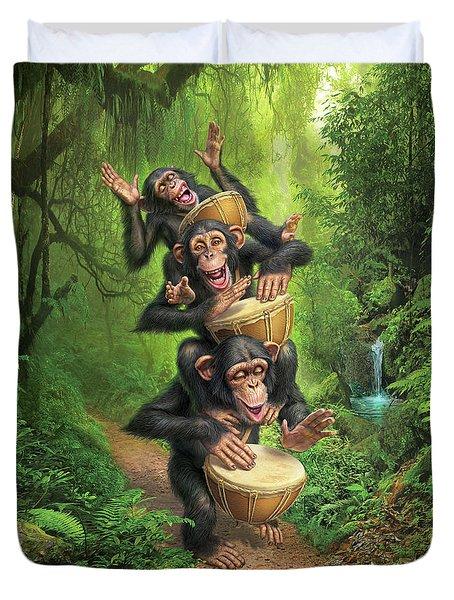 Bongo In The Jungle Duvet Cover