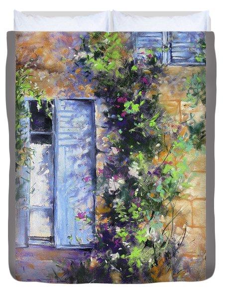 Bonjour Duvet Cover by Rae Andrews