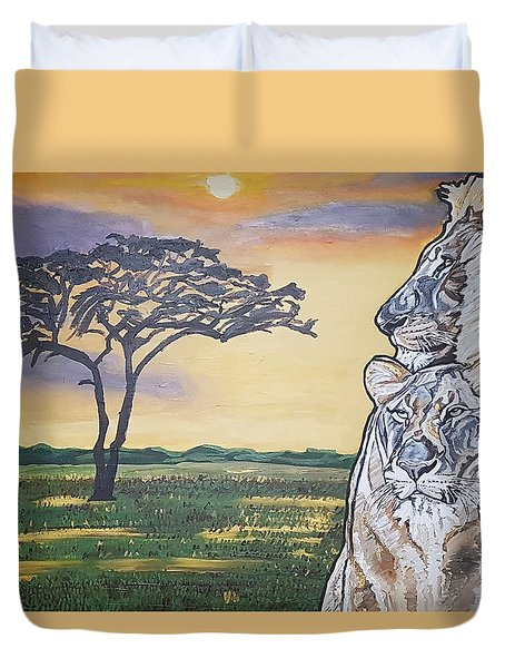 Bonnie And Clyde Duvet Cover