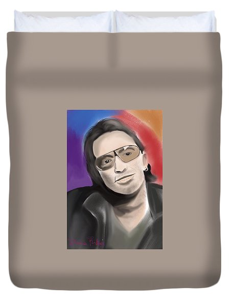 Duvet Cover featuring the digital art Bono by Diana Riukas