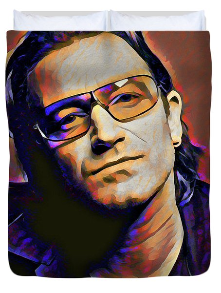 Bono Duvet Cover by Gary Grayson