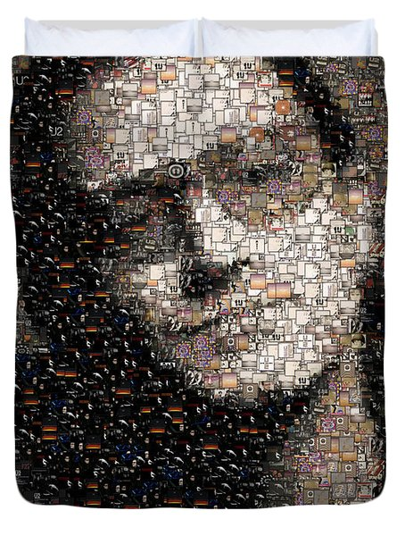 Bono U2 Albums Mosaic Duvet Cover by Paul Van Scott