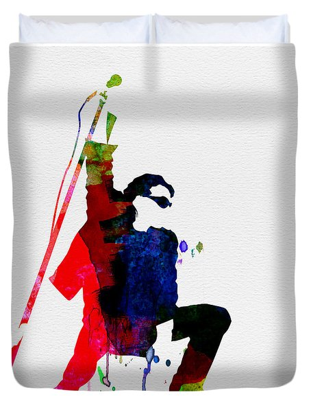 Bono Watercolor Duvet Cover by Naxart Studio