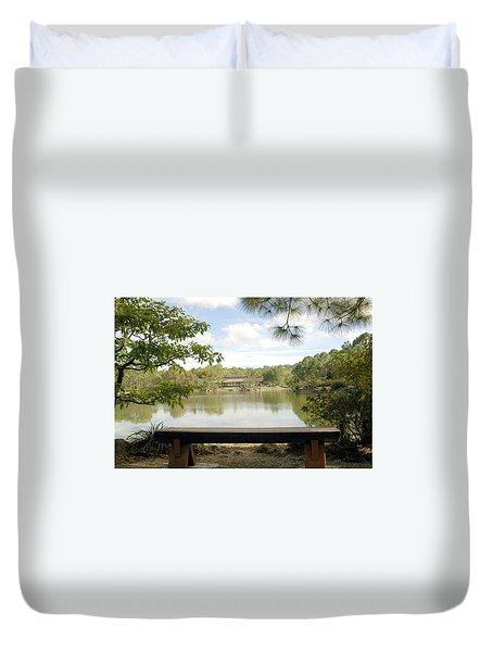 Bonsai Lake Duvet Cover